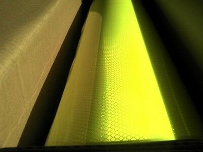 3M Diamond Grade reflective tape 2 SQUARE FT fluorescent yellow/green SAFETY 1ST