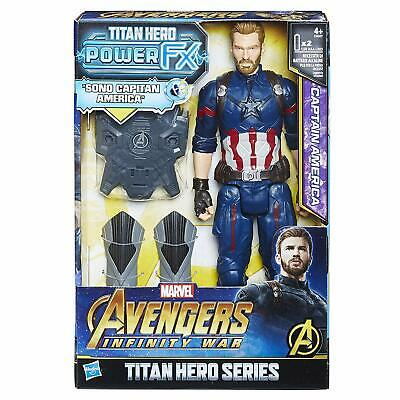 Hasbro Marvel Avengers INFINITY War Captain America Titan Hero Power FX, Charact