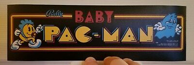 Baby Pac Man marquee sticker. 3.25 x 10.5 (Buy any 3 stickers, GET ONE FREE!)