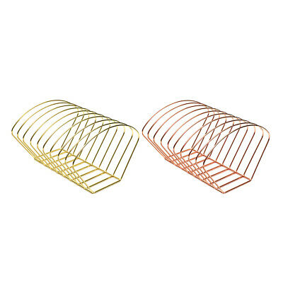 Elegant Metal Wire Book Rack Stand, Desktop Bookshelf Book Holder - 2 Color