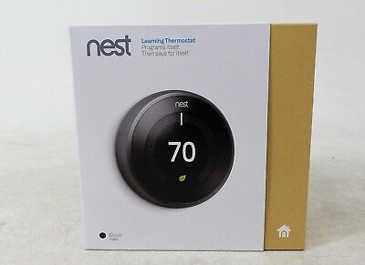 Nest T3016US 3rd Generation Thermostat - Black (9750016)