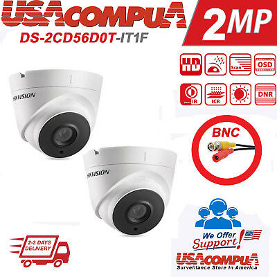 Hikvision Dome 2MP 6-Pack 1080P HD Analog IR Turret DS-2CE56D0T-IRMF 2.8mm