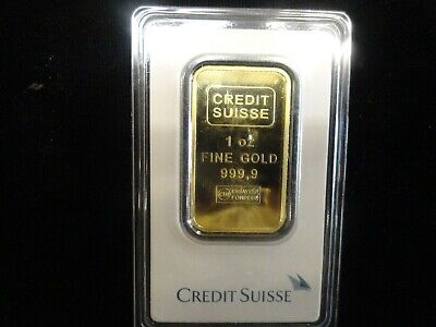 1 oz. Gold Bar - Credit Suisse -1 Ounce 99.99 Fine Gold Bar in Assay Case