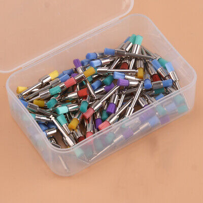100pcs Mixed Color Nylon Latch Taperd Polishing Polisher Dental Prophy Brushes