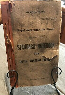 Vintage RAAF Standard Note Book for Initial Training Schools Edition August 1942