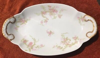"""THEODORE HAVILAND LIMOGES FRANCE Antique Small Serving Plate 9"""" Early 1900's"""