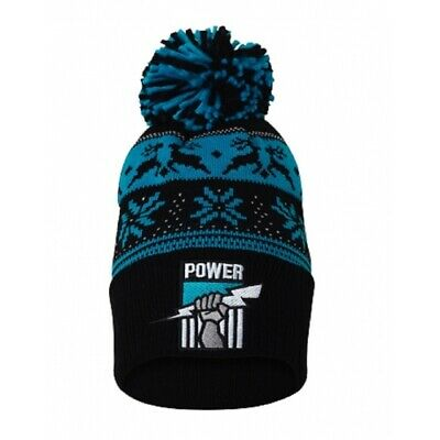 Port Adelaide Power Official AFL Adults Snowflake Beanie Mens Ladies Winter