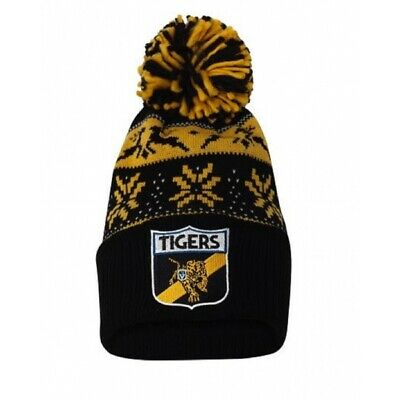 Richmond Tigers Official AFL Adults Snowflake Beanie Mens Ladies Winter