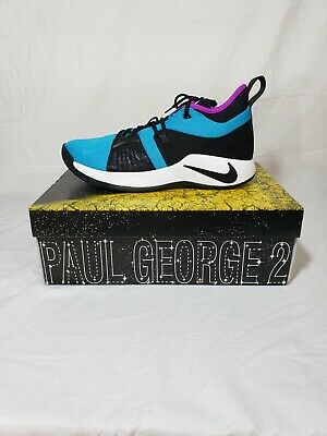 New Men's Nike PG2 Size 11 Blue Lagoon Basketball Shoes Paul George