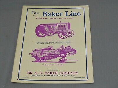 Vintage 1920s The BAKER Line Tractor Catalog Brochure 24 pgs