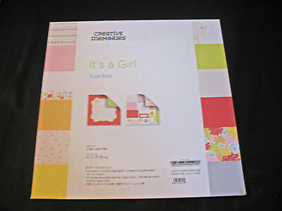 Creative Memories IT'S A GIRL Stack Pack Scrapbooking 24 Paper 2 Pages Die Cuts