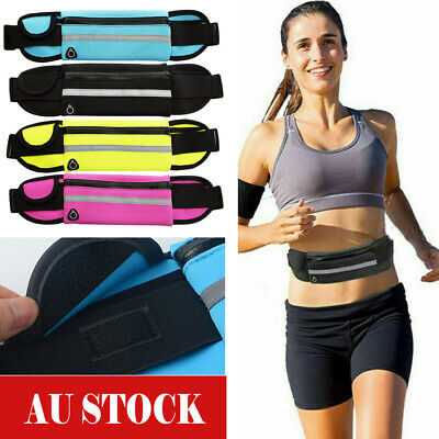 Outdoor Sports Waist Phone Bag Pack Pouch Band Belt Belly Running Jogging Gym AU