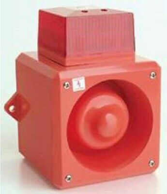 Yodalarm YL5 SOUNDER BEACON 50V DC 110dB 170mA 32-Tones Flame Retardant RED/RED
