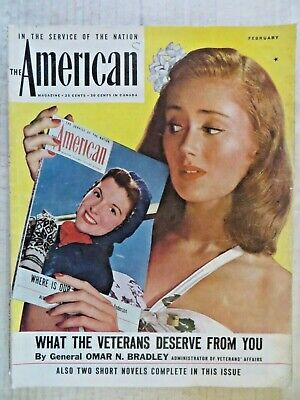 The American Magazine  February 1946 Joan Crawford  VINTAGE ADS  Connie Joannes