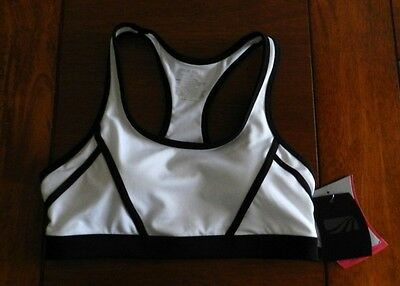 077cd442b5 NWT MARIKA High Impact SPORTS BRA White Black Women s Small