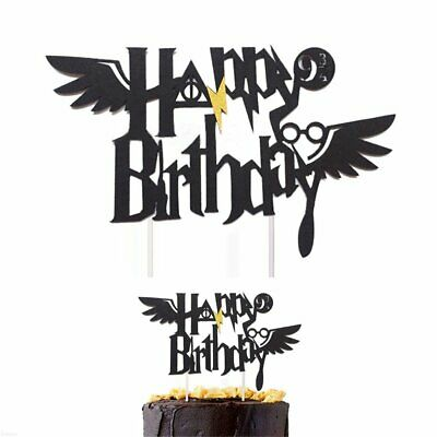 Harry Potter Happy Birthday Cake Topper Cake Decoration Kids Gifts QC