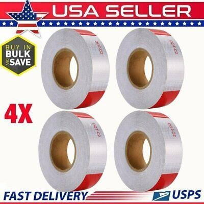 """4 Roll Reflective Conspicuity Tape 2""""x150' Safety Warning Sign Car Truck RV Boat"""