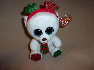 64803c5492b Ty Mwmt Frost The Christmas Bear Beanie Boo- 6