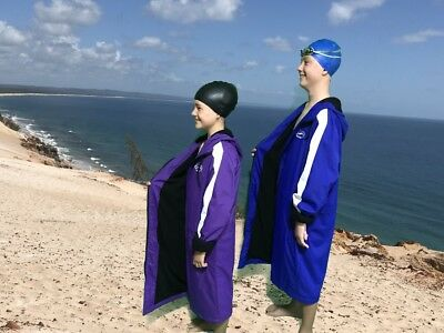 Swim Parka New Range Wazsup  Purple S (pool deck coat, swim jacket, beach robe)