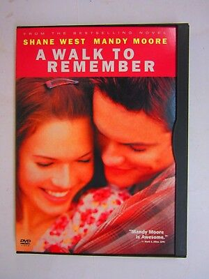 A Walk to Remember - SHANE WEST, MANDY MOORE (DVD, 2002, SNAPCASE)   FREE SHIPP