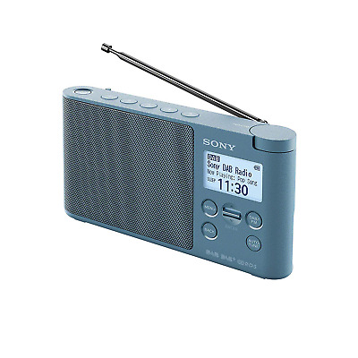 Sony XDR-S41D Portable DAB/DAB+ Wireless Radio with LCD Display - Blue