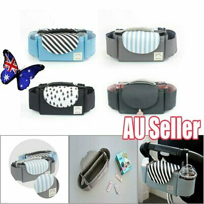 Baby Organiser Mummy Bag Storage Buggy Stroller Pushchair Cup Bottle Holder VW