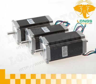 【EU SHIP】3pcs Nema23  Stepper Motor 435oz.in 3N.M 4.2A Dual shaft 23HS9442B CNC