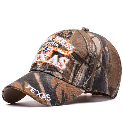 Unisex Mens Outdoor Baseball Cap Texas Embroidery Snapback Camouflage Hat f3428a1a218f