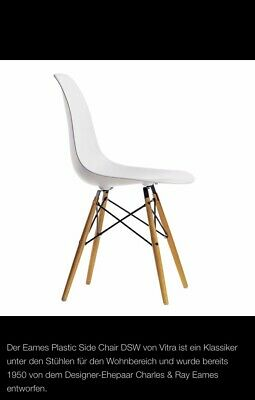 6x Designer Stühle Vitra Eames Plastic Side Chair Dsw Ahorn