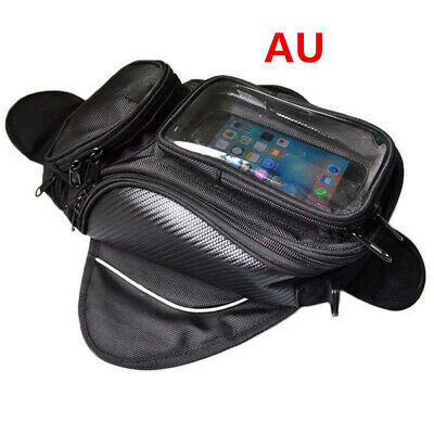 1X MOTORCYCLE SPORTS MAGNETIC Black TANK BAG WITH GPS/PHONE POUCH MOTORBIKE&BIKE