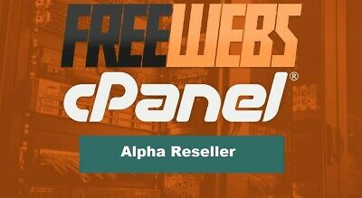 Alpha Reseller Hosting Unlimited Accounts £4.99 per month!