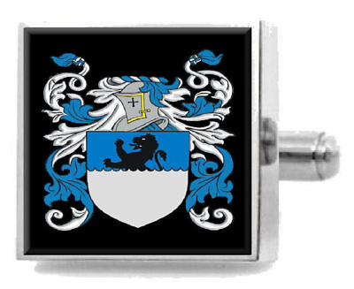 Select Gifts Lanier Ireland Family Crest Surname Coat Of Arms Cufflinks Personalised Case