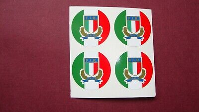 "Rugby 6 Nations  16  Crown Green Bowl Stickers  1""  Italy"