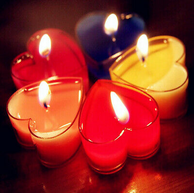 Candy Colors Heart Fragrance Candles Wedding/Valentine's Party Candle Decor