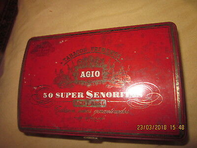 Tres Ancienne Boite Metalique Agio Sigaren Made In Holland
