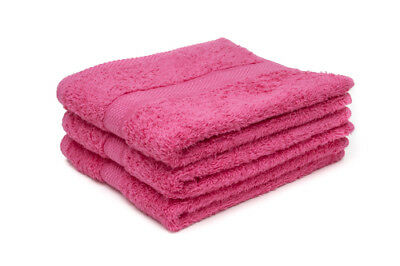24 X Hot Pink Luxury 100% Egyptian Cotton Hairdressing Towels / Salon / 50x85cm