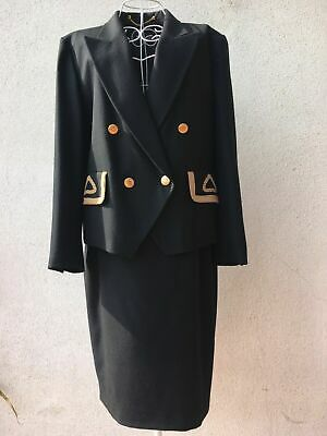 Louis Feraud Tailleur Giacca e Gonna in lana anni '80 vintage