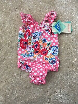 Monsoon Pink/ Coral/ Flower/ Polka Dot 18-24 Months Swimsuit Beach/ Holiday