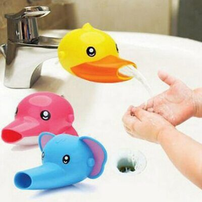 1 pc Free shipping Happy Fun Animals Faucet Extender Baby Tubs Kids Hand