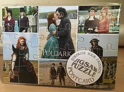 latest Jigsaw Postcard Poldark Filmed In Cornwall 24 Pcs Complete With Envelope