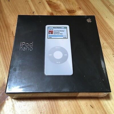 Apple iPod Nano 1st Generation White (4GB) - MA005LL/A - New / Sealed / Unused.