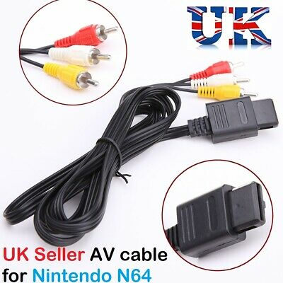 AV Video Audio Cable Lead Wires for Nintendo N64 GameCube System NGC GC SNES PAL