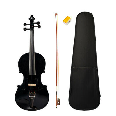 1 Set 4/4 Size Violin Fiddle with Case Bow Rosin for Students Music Lovers