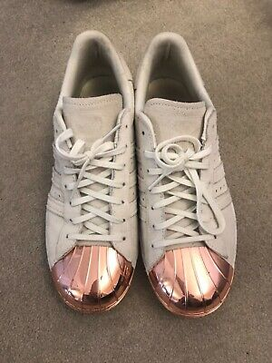 adidas rose gold superstar trainers
