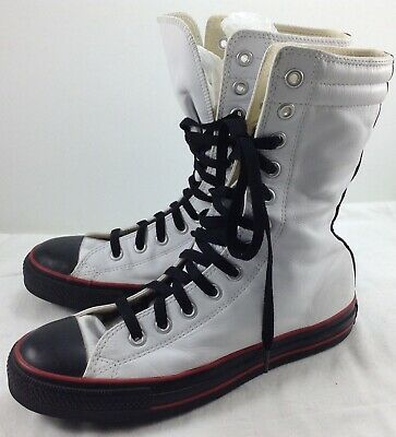 02346fbd3562 Converse Chuck Taylor All Stars High Tops White Leather Black Trim Mens  size 7