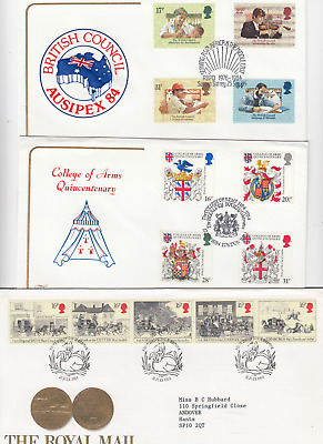1984 Full Year GB First Day Covers