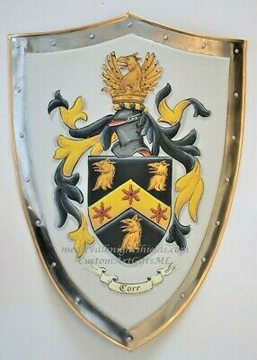 Coat of Arms battle shield, Custom Family Coat of Arms metal knight shield
