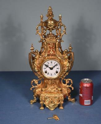 """*19"""" Large Antique French Empire Bronze Clock with Hermle/FHS Clockworks"""