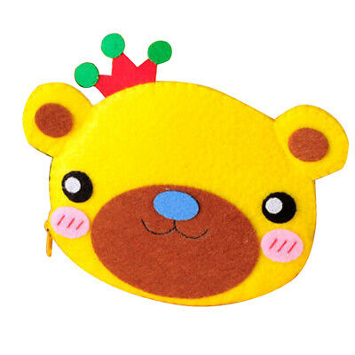 Non-woven Fabric Felt Applique Bear Coin Purse Wallet Kit for DIY Felt Craft