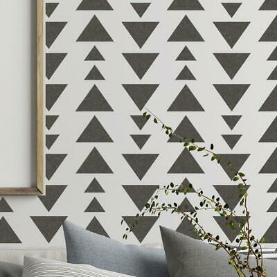 BERGEN Modern Geometric Triangle Furniture Wall Stencil for Painting